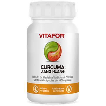 Imagem de Cúrcuma (Jiang Huang) Vitafor 60 Caps de 1000 mg