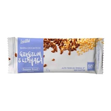 Imagem de Barra de Cereal Levitta Gergelim Linhaça 10g