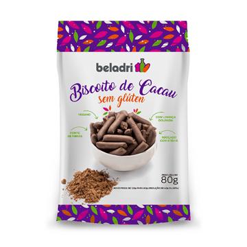 Imagem de Biscoito de Cacau Beladri Zero Sem Glúten 80g