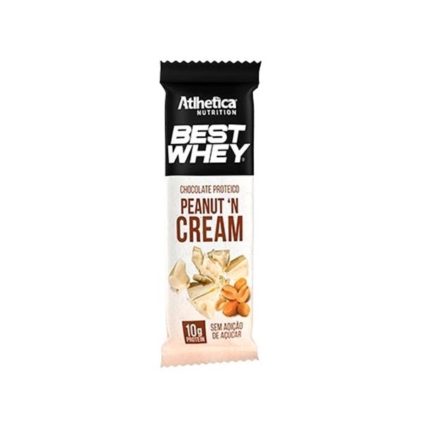 Imagem de Chocolate Protéico Best Whey Peanut Cream Atlhetica Nutrition50g