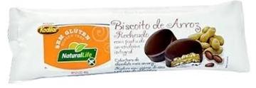 Imagem de Biscoito de Arroz Recheado c/ Pasta de Amendoim Natural Life 40g