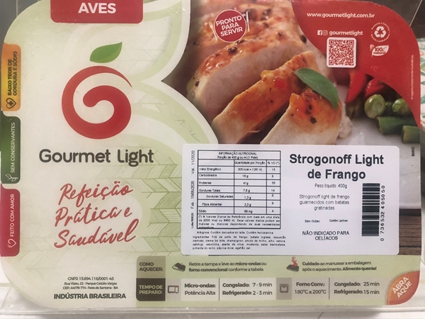 Imagem de Strogonoff de frango Gourmet Light 400g
