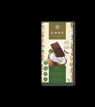Imagem de CHOC Chocolate 50% cacau ao leite de Coco 80g