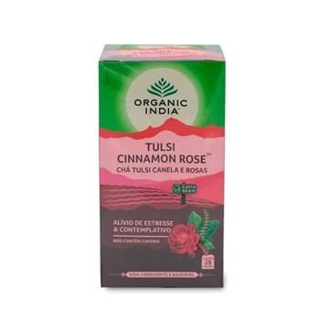 Imagem de Chá Tulsi Canela e Rosas Organic India Cx 25 Sachês