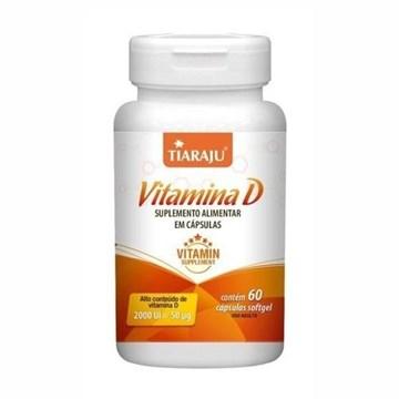 Imagem de Vitamina D Tiaraju 60 Caps 200UI