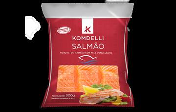 Imagem de Filé de Salmão pedaços Komdelli pacote 500g