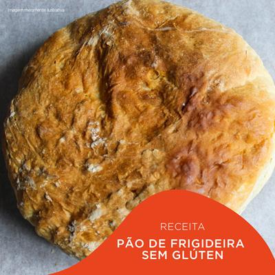 Pão de Frigideira Sem Glúten