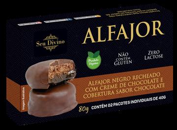 Imagem de Alfajor sem glúten chocolate 80g - Seu Divino