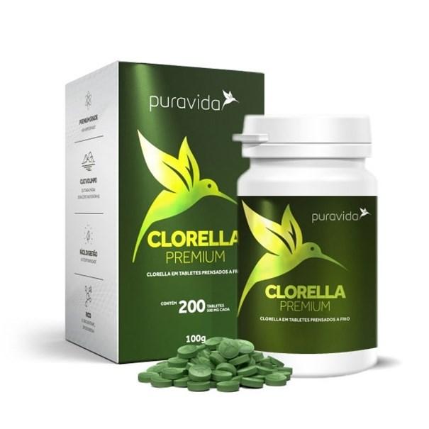 Imagem de Clorella Pura Vida Premium 200 tabletes de 500mg
