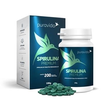 Imagem de Spirulina Pura Vida Premium 200 tabletes de 500mg