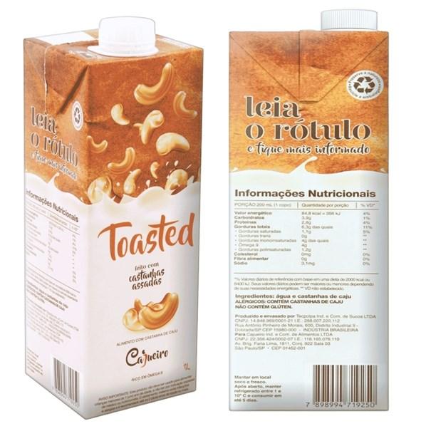 Imagem de Bebida de Castanha de caju Toasted Cajueiro 1L