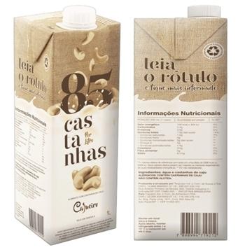Imagem de Bebida de Castanha de Cajueiro 85 Castanha 1L