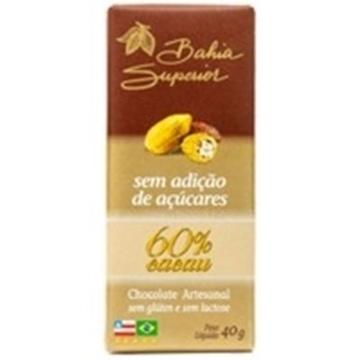 Imagem de Chocolate 60% Bahia Superior Sem Açúcar Tradicional 40g