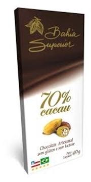 Imagem de Chocolate 70% Cacau Bahia Superior  40g