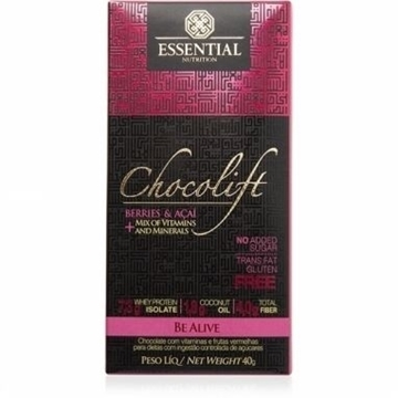 Imagem de Chocolate Chocolift Be Alive Essential Nutrition 40g