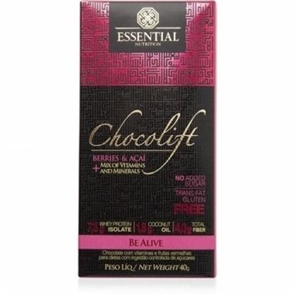 Imagem de Chocolate Chocolift Be Alive Essential Nutrition 40g