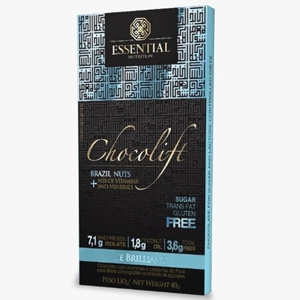 Imagem de Chocolate Chocolift Be Brilliant Essential Nutrition 40g