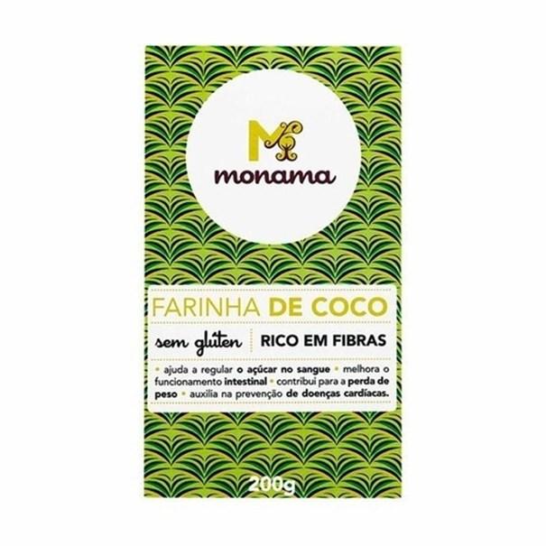 Imagem de Farinha de Coco Sem Glúten Monama 200g