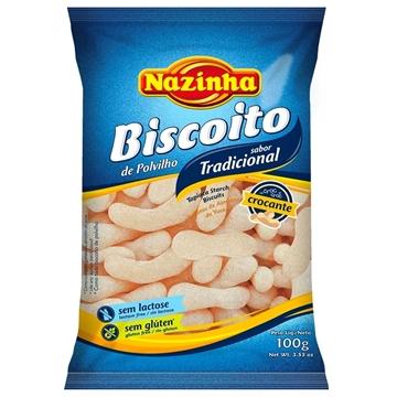 Imagem de Biscoito de Polvilho Nazinha tradicional Sem Glúten 100g