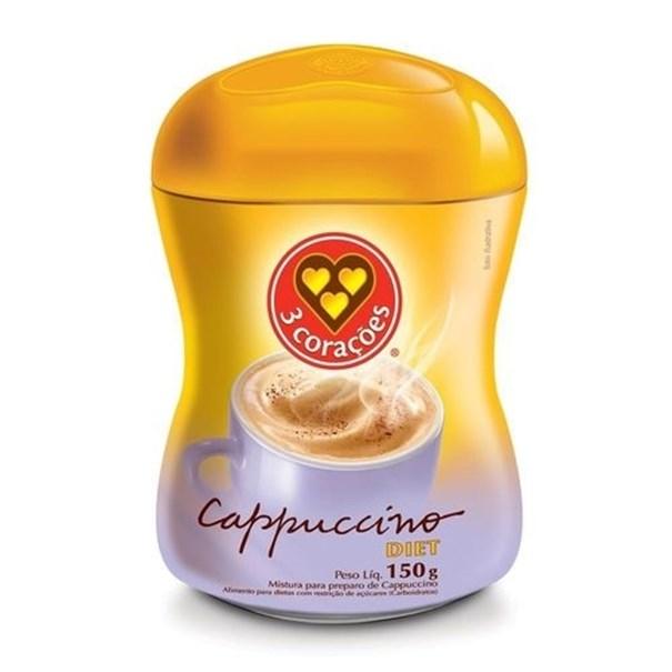 Imagem de Café Cappuccino 3 Corações Diet 150g