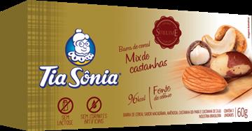 Imagem de Barra de Cereal Tia Sonia Mix Castanhas Sublime 60g