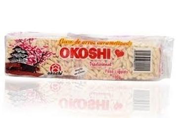 Imagem de Biscoito Okoshi flocos de arroz caramelizado Okoshi 100g