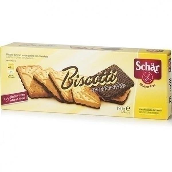 Imagem de Biscoito Schar Biscotti coberto com chocolate amargo sem glúten  150g