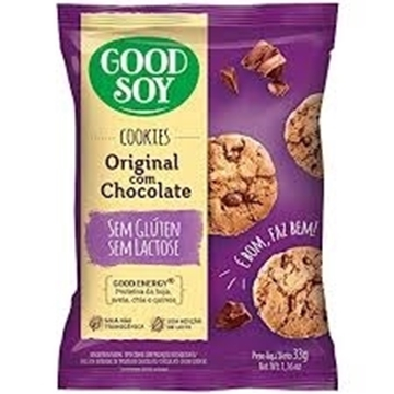Imagem de Biscoito Cookie  Good Soy Sem Glúten Chocolate original 33g