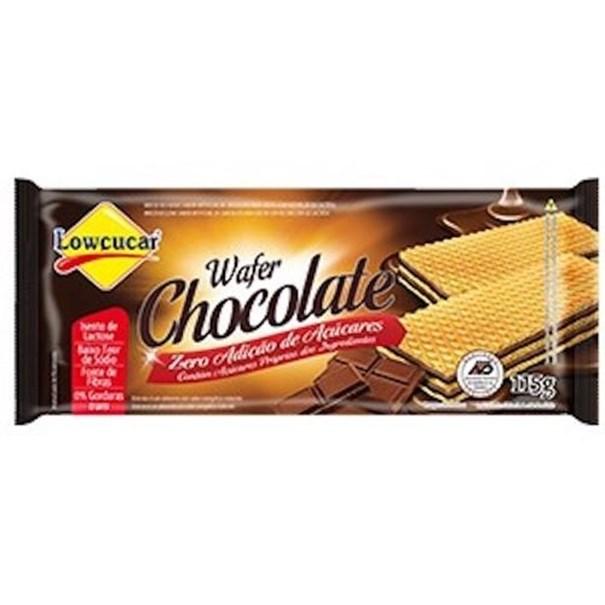 Imagem de Biscoito Wafer Lowçucar Zero Açúcar Chocolate 115g