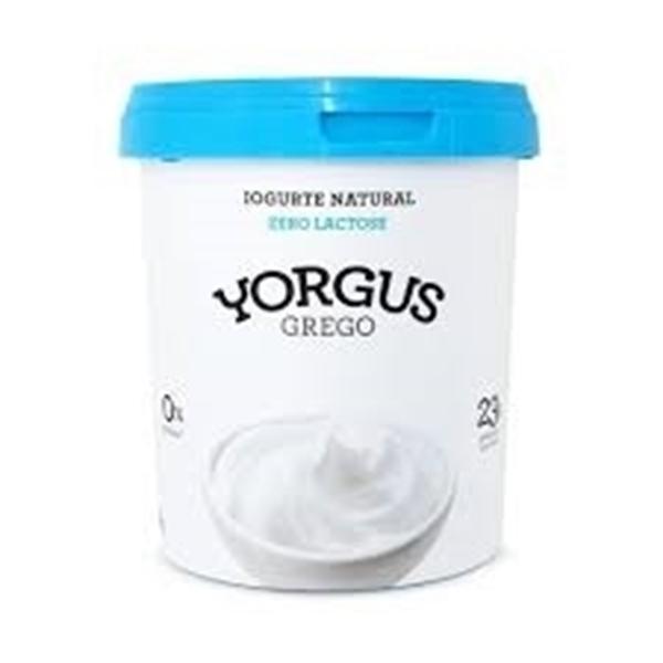 Imagem de Iogurte Yorgus Grego Natural Sem Lactose 0% 500g