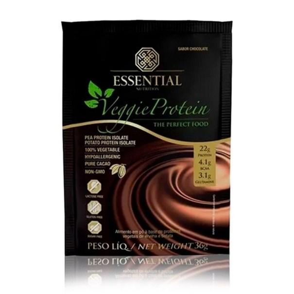 Imagem de Veggie Protein Cacau Sachê Essential Nutrition 35g