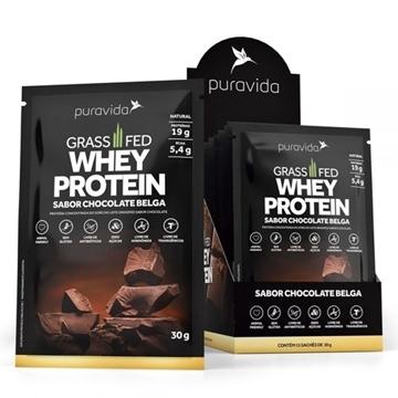 Imagem de Grassfed Whey Protein Chocolate Fred Pura Vida Sachê 30g