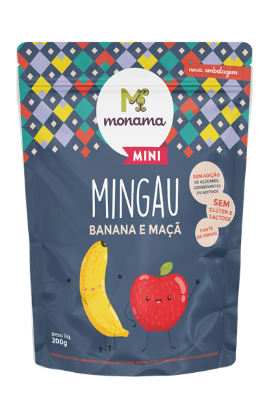Imagem de Mingau Banana Maçã Monama Sem Glúten Saudável 200g