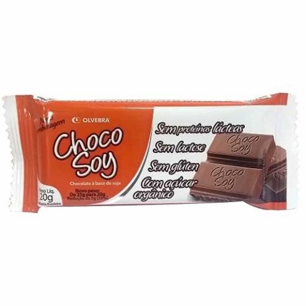 Imagem de Chocolate Chocosoy Barrinha 20g