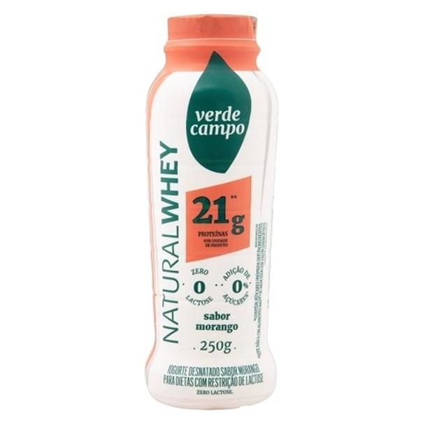 Imagem de Iogurte Natural Whey 21g Morango 250g - Verde Campo
