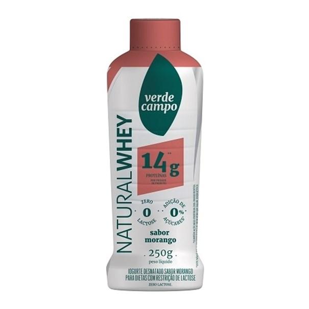 Imagem de Iogurte Natural Whey  14g -  Verde Campo  Morango 250g