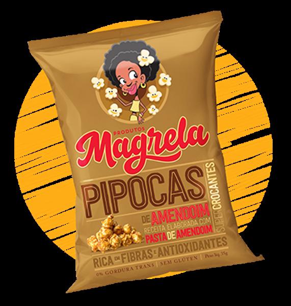 Imagem de Pipoca Magrela Pasta de Amendoim 70g