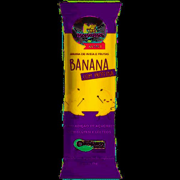 Imagem de Barra  de Aveia e Banana com Proteína Orgânica Monama 25g