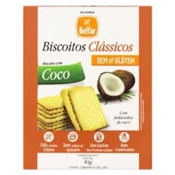 Imagem de Biscoito de Coco Sem Glúten Belfar 84g