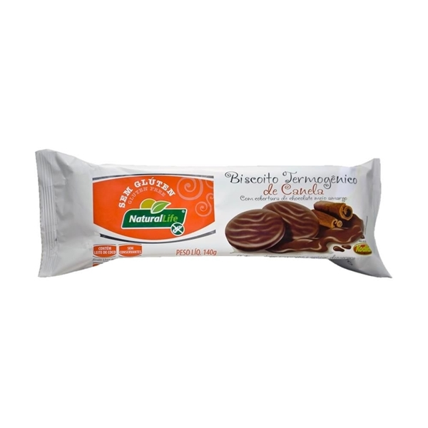 Imagem de Biscoito Canela com Chocolate Sem Glúten Natural Life 140g