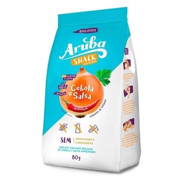 Imagem de Biscoito Aruba Cebola e Salsa Sem Glúten 80g