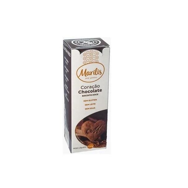 Imagem de Biscoito Sem Glúten Marilis Coração de Chocolate 100g