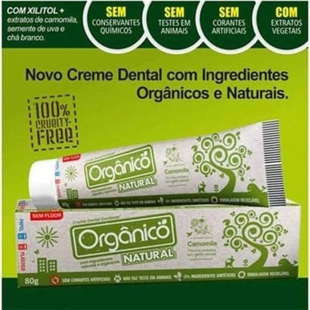 Imagem de Creme Dental Natural Camomila, Uva e Melissa 80g