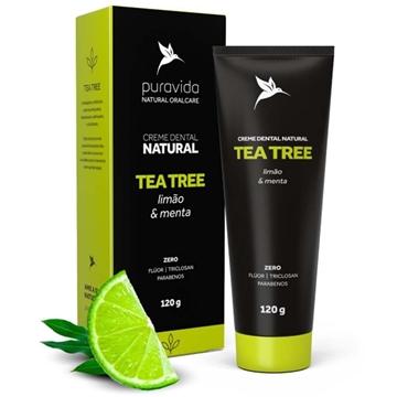 Imagem de Creme Dental Natural Tea Tree, Limão e Menta 120g PuraVida