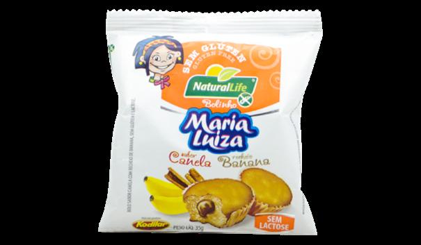 Imagem de Bolinho Maria Luiza Canela com Banana Sem Glúten Natural Life 35g