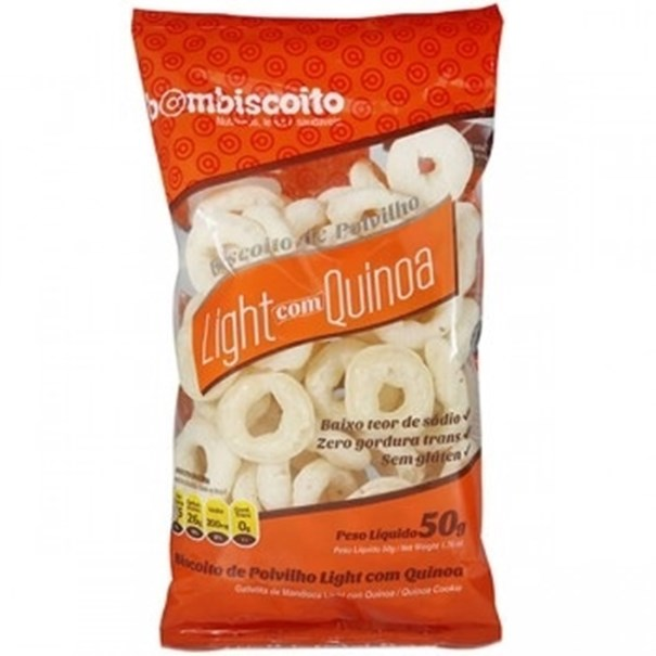 Imagem de Biscoito de Polvilho Light com Quinoa Bombiscoito 50g