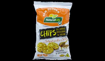 Imagem de Chips de Arroz Integral e Milho Mostarda e Mel Natural Life 70g