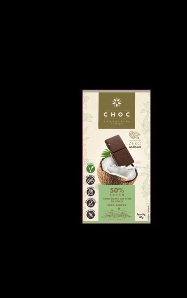 Imagem de CHOC Chocolate 50% Cacau Zero Açúcar 80g