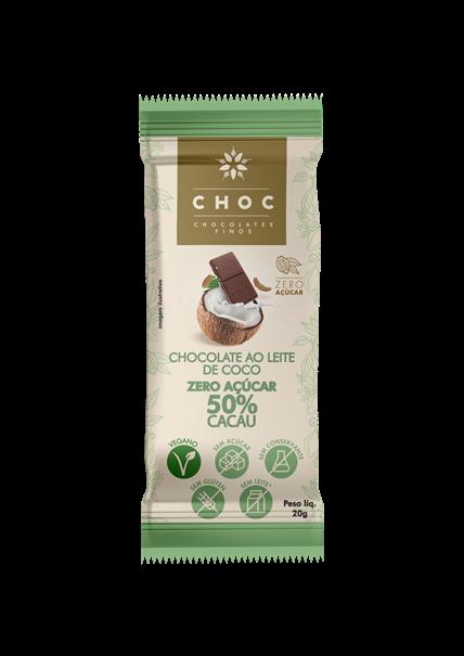 Imagem de CHOC Chocolate 50% cacau zero açúcar 20g