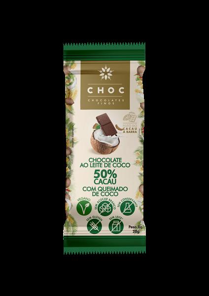 Imagem de CHOC chocolate 50% cacau e Coco Queimado 20g